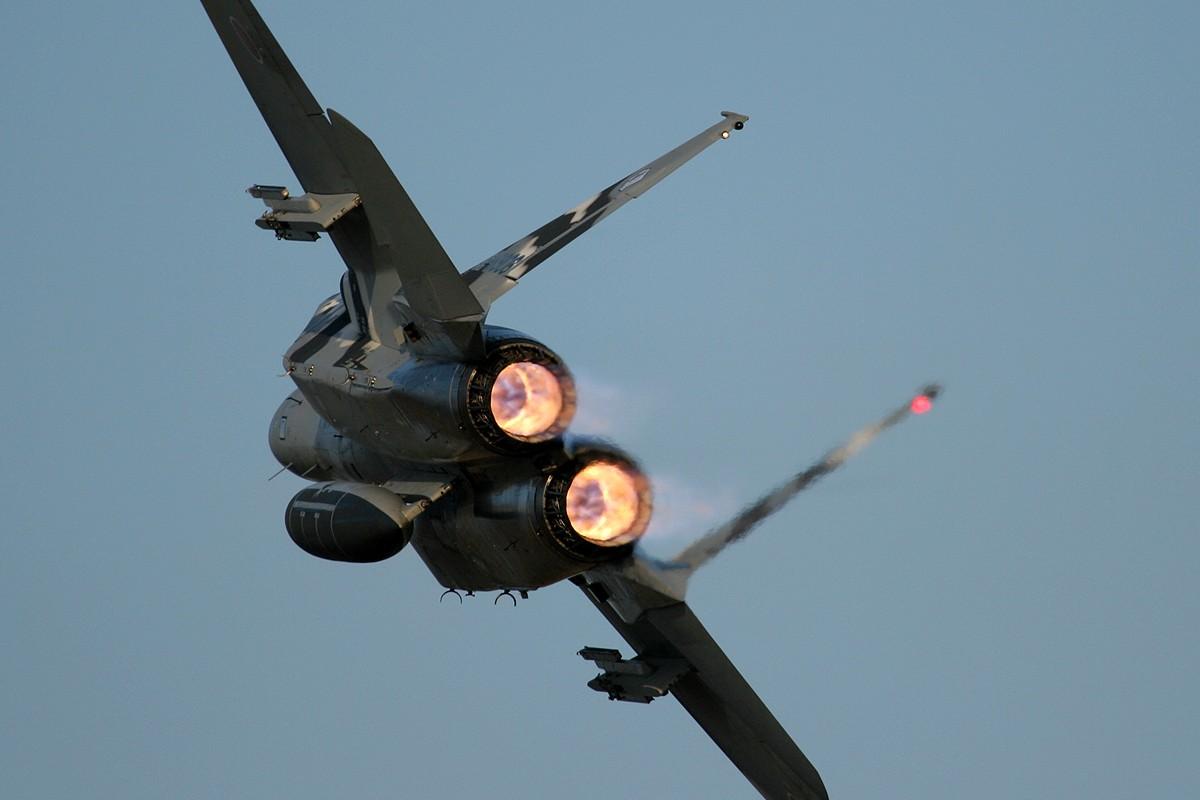 F15 Afterburner at Dusk  WidescreenWallpaper